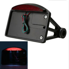 Side Mount License Plate Bracket Tail Light For Harley Softail Sportster Dyna