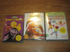 SESAME STREET Lot (3 DVDs) Count It Higher|Elmo Saves Christmas|...Monsters~NEW!