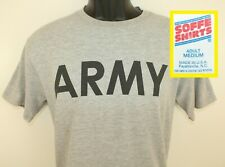 Rayon Tri-blend Army military vintage gray t-shirt S/M 90s Soffe Usa America
