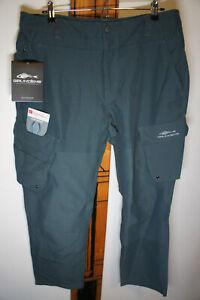 NEW Grundens  Outdoor Breakwater UPF 50 Grey Fishing Pants Sz 32S   p19