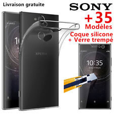 Verre Trempé Vitre Film Ecran Protection+ Coque SONY L2/XA/1/ULTRA/XZ 2 Xperia10