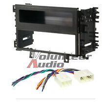 Car Radio Stereo CD Player Dash Install Mounting Trim Bezel Panel Kit Harness