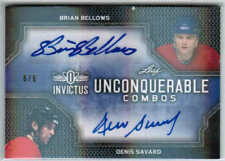 17/18 LEAF INVICTUS BELLOWS/SAVARD UNCONQUERABLE COMBOS AUTO 6/6 MONTREAL HABS