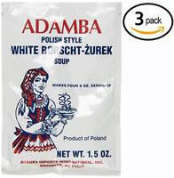 Adamba Polish Style White Borscht Zurek Soup USA Seller Free Shipping (3-Pack)