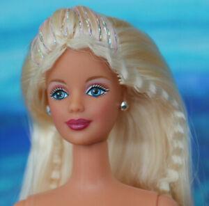 Nude Barbie Mackie Blonde crimped sparkly hair Blue eyes articulated NEW 4 OOAK