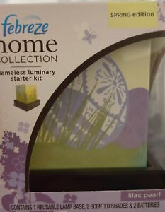 """Febreze Luminary """"Lilac Pearl"""" Home  Collection Spring  Edition Starter Kit Rare"""