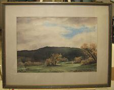 Vernon C. Taylor 1940 California Hills Watercolor Listed San Bernardino Artist