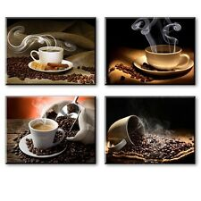 Hot Coffee Beans Canvas Prints Wall Art Picture Framed Printing Photo Home Decor