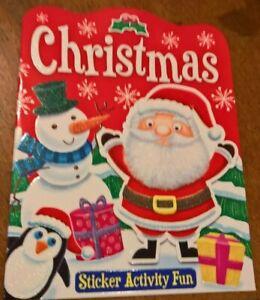 Christmas activity sticker book   A4 size