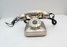 Pottery Barn Grand Phone Telephone Silver Desk Old Fashion Vintage Retro Style