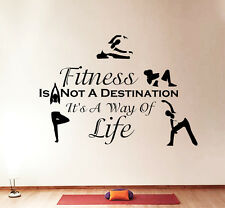 Wall Decals Quotes Sport Fitness Is Not Exercises Gym Bedroom Vinyl Decor DA3800