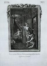 c1790 Ovid Metamorphosen Aglauros Aglaurus Merkur Mercury Herse Original-Kupfer
