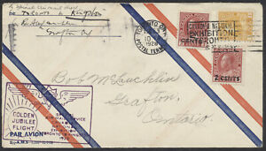 1928 #139-140 Both Admiral Provisionals On Toronto to Kingston Flight Cover