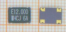 10 Stk QUARZOSZILLATOR 12,000 MHz  =  SMD / HCMOS /  5Volt / TTL Out  / Keramik