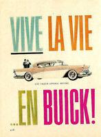 1957 BUICK AUTOMOBILE ORIGINAL AD IN FRENCH