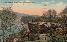 Postcard Table Rock Beaver River Beaver Falls PA
