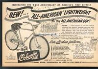 1952 COLUMBIA All-American Lightweight Bike Bicycle VTG PRINT AD