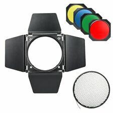 Godox BD-04 Barn Door Honeycomb Grid Color Gel Filter For Monolight Strobe Head