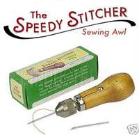 SPEEDY HAND STITCHER SEWING AWL + 14m THREAD tent saddlery repairs FREE POST
