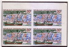 Central African: 1968; Scott 100 Block 4 Imperforated, MNH, refinery oil, EBCF04