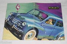 Renault 750 4 Sales Brochure Booklet, Late 1950's