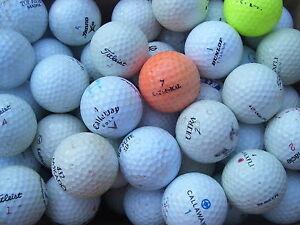 200 Crossgolfbälle, Cross - Golfbälle  Markenmix