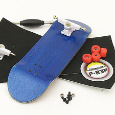 P-Rep - WIDE 32mm Blue Complete Wooden Fingerboard - Nuts and Basic Bearings