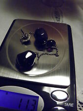 925 STERLING SILVER AMETHYST EARRINGS 3 INCHES LONG OUTSTANDING