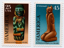 Us Scott #2426 & C121 Pre-Columbian America Customs Set of 2 Mnh