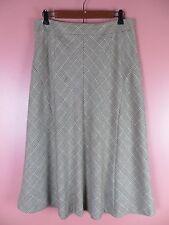 SK09345- TALBOTS Woman 49% Wool Seasonless Flared Skirt Multi-Color Geo 10P