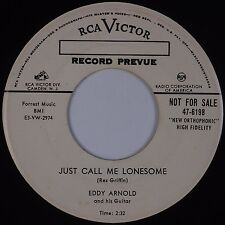 EDDY ARNOLD: Just Call Me Lonesome / That Do Make USA '55 RCA Country PROMO 45