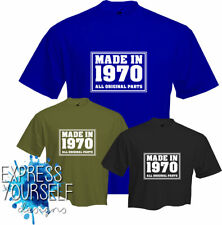 MADE IN  1970- T Shirt, 50th BIRTHDAY (2020), Fun, Present, Gift, NEW
