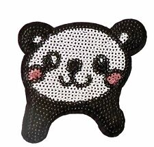 Panda Iron Patch Sew Embroidered Sequins Badge Cloth Sequin Motif Patches  #11