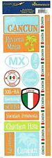 Reminisce - Cancun Scrapbooking Stickers - 115 - Riviera Maya Snorkeling Scuba