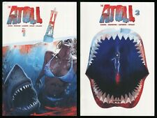 The Atoll Comics 1-2 Great White Shark Attack Horror Jaws Hook Jaw Grizzlyshark