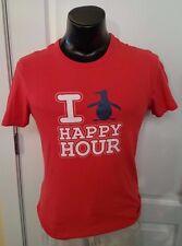 I Penguin Happy Hour Logo Promo Red T Shirt Small Vintage Print Retro Rare