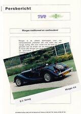 MORGAN 4/4 Youngtimer Presseinformation Prospekt Brochure Nederland 1999 12