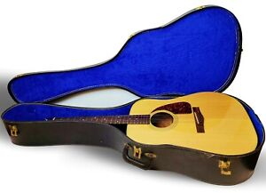 Vintage Fender F-210 Acoustic Guitar with Hard Case & Leather Strap - E-62421a