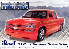 Revell Monogram '99 Chevy Silverado Custom Pickup Plastic Model Kit 1/25