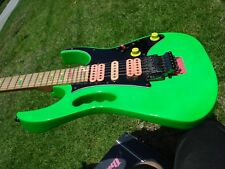 1988 Ibanez Jem 777LNG Steve Vai Signature Signed #759 Loch Ness Green