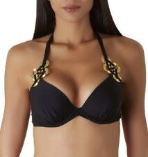 Aubade Black Gold Bikini New 32C Medium RRP £148 Swimwear Beach Winter Sunshine