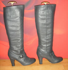 SUPERB ME TOO DARK GREY LEATHER  BOOTS  EU 38.  *28*