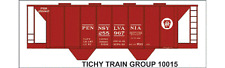 Tichy Train Group #10015O O Scale PRR H33 Covered Hopper Decals