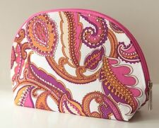 CLINIQUE PAISLEY PINK PURPLE & WHITE LARGE MAKE UP BAG