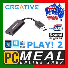CREATIVE Sound Blaster Play! 2 USB Sound Card External PC Audio MIC 3.5mm PLAY2