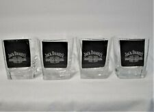 4 Jack Daniels Single Barrel Whiskey Rocks Glasses  Square Base4 Jack Daniels Si