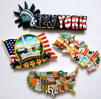 USA United States Souvenir Resin 3D Fridge Magnet Refrigerator Magnetic Stickers
