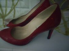 L K Bennett red shoes size 4 vgc limited wear