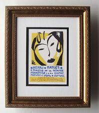 "Powerful Henri MATISSE Exhibition Poster ""Maison de la Pensee France"" Framed COA"