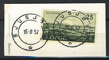 Norway 1957, NK 448, Son Sjusjøen 16-8-1957 on cutpiece